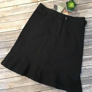 Anthropologie Sitwell Black Ruffle Hem Skirt 6